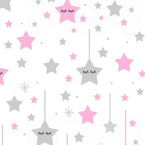 Pink Twinkle Little Sleepy Star Baby Girl