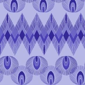 Boho feathers - violet