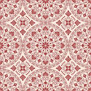 Mandala Geometric Red
