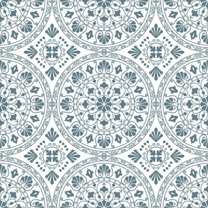 Mandala Geometric Blue