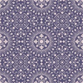 Geometric Mandala Lilac Beige