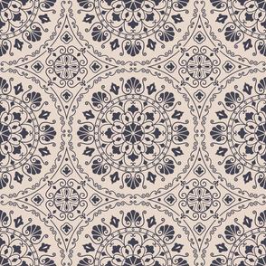 Mandala Beige Geometric