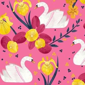 Swan Princess and Yellow Iris