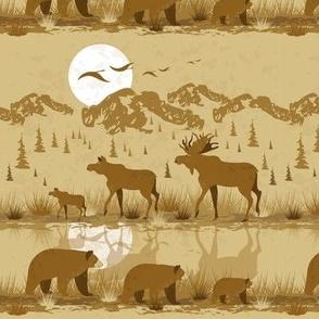 Wildlife of Canada (or Siberia)