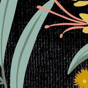 Flora Australis - Black Floral Botanical Jumbo Scale
