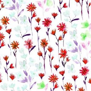 Coral Bloom in Verona - watercolor flowers - blooming spring