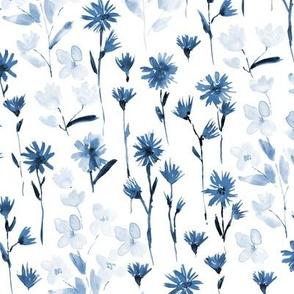 Blue bloom in Verona - watercolor flowers - blooming spring