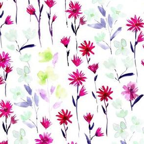 Magenta Bloom in Verona - watercolor flowers - blooming spring
