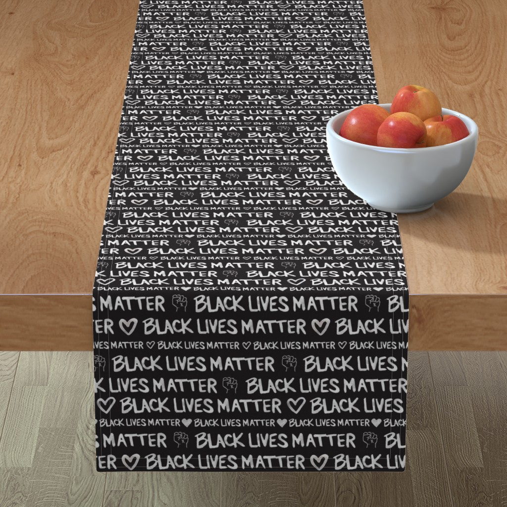 Minorca Table Runner featuring Black Lives Matter by winnie&peach