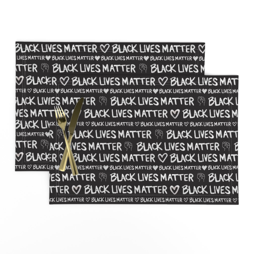 Lamona Cloth Placemats featuring Black Lives Matter by winnie&peach