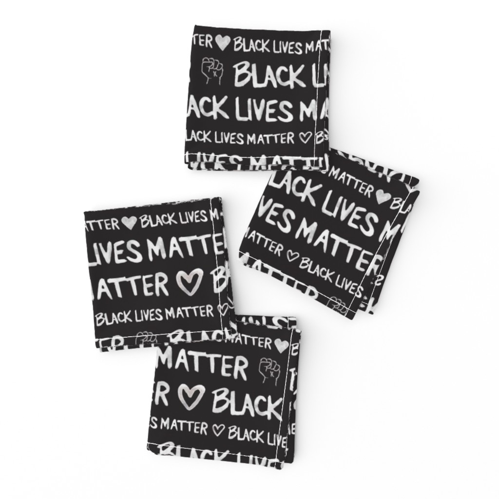 Frizzle Cocktail Napkins featuring Black Lives Matter by winnie&peach