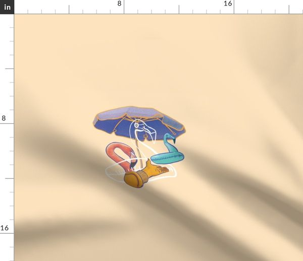 Let S Go To The Beach Spoonflower