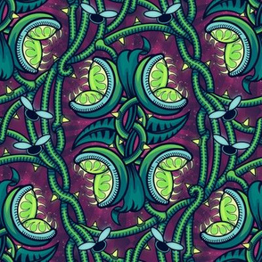 ★ ALIEN VENUS FLY TRAP ★ Green & Purple, Medium Scale / Collection : Venus Fly Trap – Carnivorous Plant Print 15