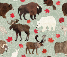 Chocolate Moose and Syrupy Maple - green large scale
