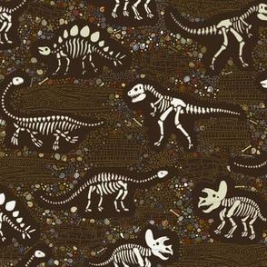 Dinosaur Fossils - Brown - Small