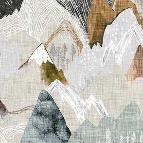 Call of the Mountains (ochre) JUMBO