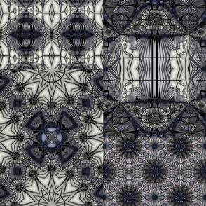 "Black Rum Glass Collage    20"""