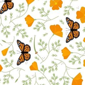 Lift California Poppies & Monarchs - Railroad