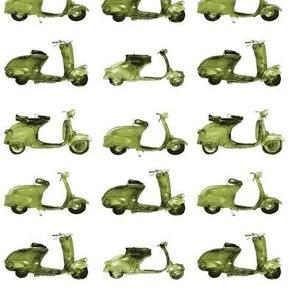 khaki motorbike pattern - watercolor