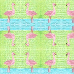 Large Birds - Flamingo