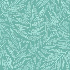 Creeping vines // Stretching leaves // Teal botanicals