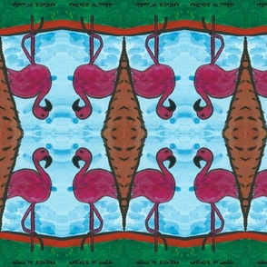 Winter Wonderland.flamingo