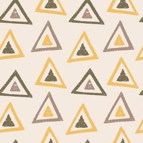 Earth Tones Charcoal Triangles