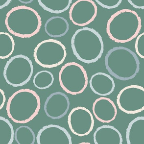 Circles on green
