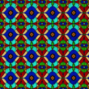 Colorful Stained Glass Tiles