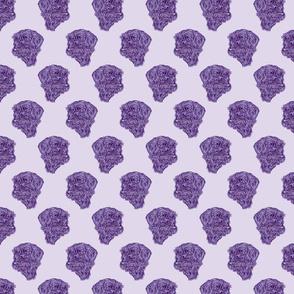 Wire-haired Dachshund sketch - purple