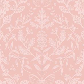 Dahlia Damask in Pink