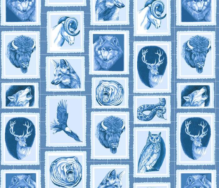 Canadian widlife Album--denim blue