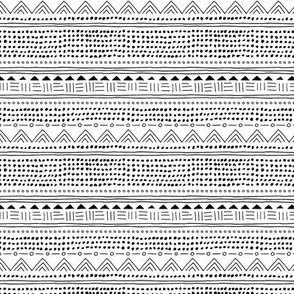 Minimal linen mudcloth bohemian mayan abstract indian summer love aztec design monochrome black and white SMALL