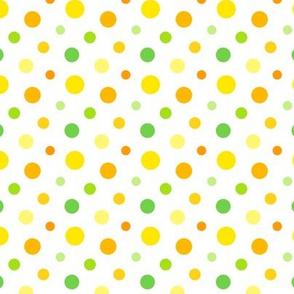 Citrus Spots– Yellow, Orange and Green Spotty Pattern