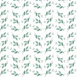 Watercolour leaf motif