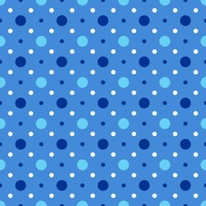 Blue and White  Spots Pattern