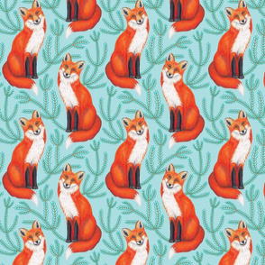 Red Fox and Spruce