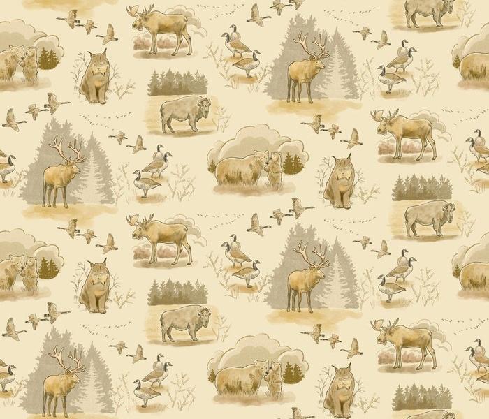 Canadian Wildlife Toile