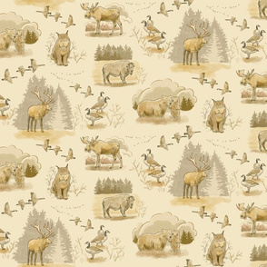 Canadian Wildlife Toile