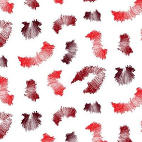 Red and White Spiky Abstract Pattern