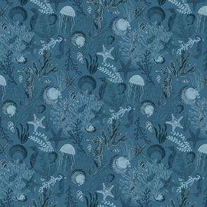 Underwater Blue Ocean Dark
