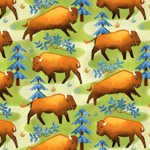 Cute Country Bison Band (Large Scale)