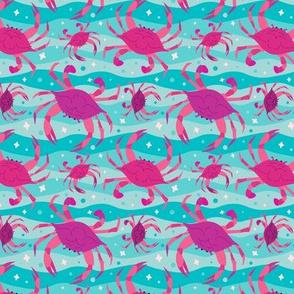 Technicolor Wandering Crabs to Eaten - Purple & Teal