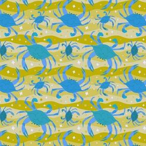 Technicolor Wandering Crabs to Eaten - Blue & Mustard