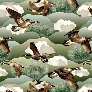 Canada Geese large scale