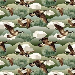 Canada Geese medium scale