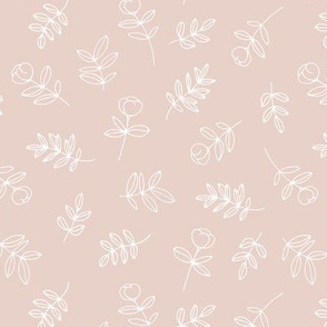Petals and flowers boho summer garden poppy love neutral nursery moody pale pink nude