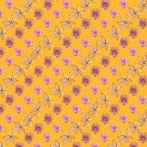 Midsummer flowers diagonal orange