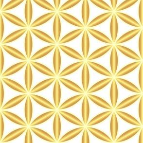 Flower of Life gold Art Deco Wallpaper Fabric