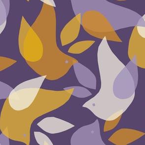 Abstract Flock on Purple